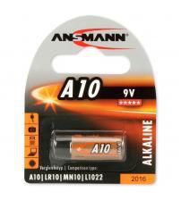 Ansmann 1510-0006 A10 9V Alkaline Cell Carded 1