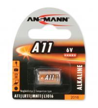 Ansmann 1510-0007 A11 6V Alkaline Cell Carded 1