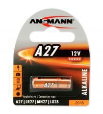 Ansmann 1516-0001 A27 12V Alkaline Cell Carded 1