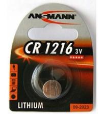 Ansmann 1516-0007 CR1216 3V Lithium Coin Cells Carded 1