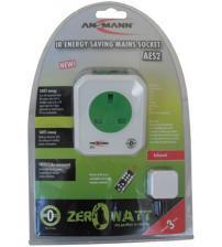 Ansmann 5024073/UK AES2 Energy Saving Mains Socket Infrared