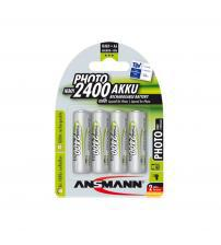 Ansmann 5030482 NiMH AA AkkuPower Rechargeable 1.2v Batteries 2400mAH - Pack of 4