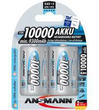 Ansmann 5030642 1000mAh MaxE 1.2V D Rechargeable Batteries Carded 2
