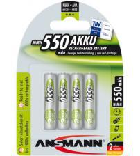 Ansmann 5030772 550mAh AAA Rechargeable 1.2V Batteries Carded 4
