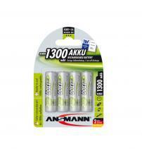 Ansmann 5030792 NiMH AA AkkuPower Rechargeable 1.2v Batteries 1300mAH - Pack of 4