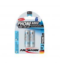 Ansmann 5030802 NiMH AA AkkuPower Rechargeable 1.2v Batteries 1300mAH Carded 2