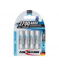 4x Ansmann 5030842 NiMH AA Akku Rechargeable 1.2V 2500mAH Batteries