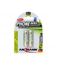 Ansmann 5030902 NiMH AA AkkuPower Rechargeable 1.2v Batteries 800mAH - Pack of 2