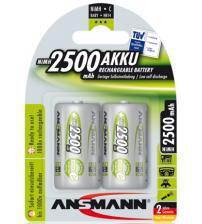 Ansmann 5030912 2500mAh C MaxE 1.2V Rechargeable Battery Carded 2