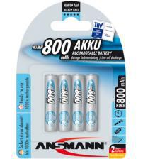 Ansmann 5035042 800mAh MaxE 1.2v AAA Rechargeable Batteries Carded 4