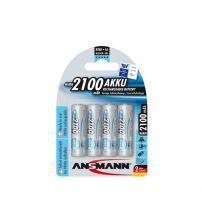 Ansmann 5035052 NiMH AA Akku Rechargeable 1.2V 2100mAH Batteries Carded 4