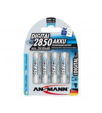 Ansmann 5035092 NiMH AA Akku Rechargeable 1.2V 2650mAH Batteries Carded 4