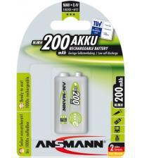 Ansmann 5035342 200mAh 9V MaxE 8.4V Rechargeable Batteries Carded 1