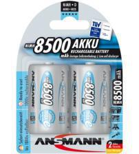 Ansmann 5035362 8500mAh MaxE 1.2V D Rechargeable Batteries Carded 2