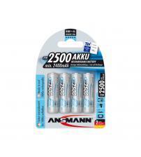 Ansmann 5035442 NiMH AA Akku Rechargeable 1.2V 2400mAH Batteries - Pack of 4
