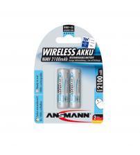 Ansmann 5035483 NiMH AA AkkuPower Rechargeable 1.2v Batteries 2100mAH - Pack of 2