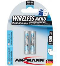 Ansmann 5035503 800mah AAA Rechargeable 1.2V Batteries Carded 2