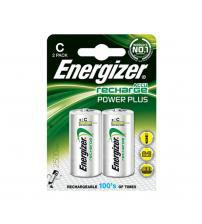 Energizer 635674 AccuPower Rechargeable HR14 2500mAh C Batteries Carded 2