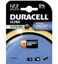 Duracell DL123 CR123 3V Photo Lithium Battery Carded 1