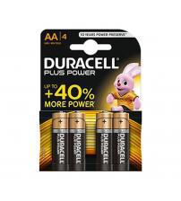 Duracell MN1500B4 Plus Power Alkaline AA Batteries Carded 4