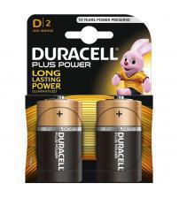Duracell MN1300B2 Plus Power D Size Alkaline Batteries Carded 2