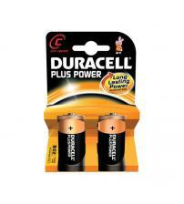 Duracell MN1400B2 Plus Power C Alkaline Batteries Carded 2