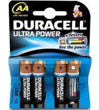 Duracell MX1500B4 Ultra Power Alkaline AA Batteries Carded 4