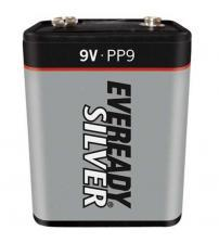 Energizer 601162 Eveready Silver PP9 9V Batteries Lantern Cell Carded 1
