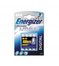 Energizer 635233 Ultimate Lithium AAA Batteries Carded 4