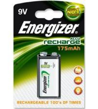 Energizer 635584 NiMH PP3 9V 175mAh HR22 Rechargeable Batteries Carded 1