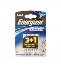 Energizer 635883 Ultimate Lithium AAA Batteries Carded 3+1