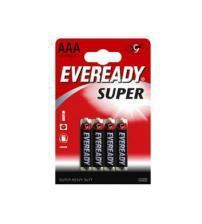 Energizer 637068 Eveready Super AAA Standard Zinc Batteries Carded 4