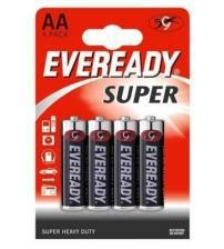 Energizer 637084 Eveready Super AA Standard Zinc Batteries Carded 4