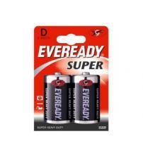 Energizer 637087 Eveready Super D Size Standard Zinc Batteries Carded 2