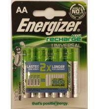 Energizer 638590 Rechargeable AA 1300mAh Batteries Carded 4