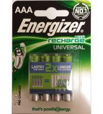 Energizer 638624 500mAh NiMH AAA Rechargeable Batteries Carded 4