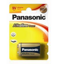 Panasonic 6LR61APB/1BP Alkaline Power Bronze PP3 9V Size Batteries Carded 1