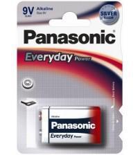 Panasonic 6LR61EPS/1BP Everyday Power Silver Alkaline PP3 9V Size Batteries Carded 1