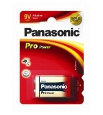 Panasonic 6LR61PPG/1BP Alkaline Pro Power Gold PP3 9V Size Batteries Carded 1