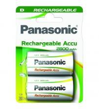 Panasonic HHR-1SRE/2B Ready to Use 2800mAh D Batteries Carded 2