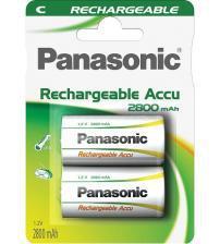 Panasonic HHR-2SRE/2B Ready to Use 2800mAh C Batteries Carded 2