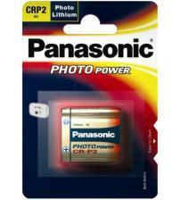 Panasonic CR-P2L/1BP 6V Photo Lithium Battery Carded 1
