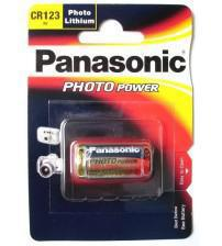 Panasonic CR123A 3V Photo Lithium Battery Carded 1