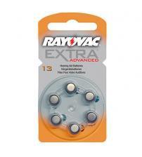 Rayovac RAY13EA-6 Extra Advanced 1.4V Zinc Air Hearing Aid Batteries Carded 6