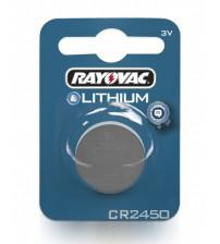 Rayovac RAY2450-C1 CR2450 3V Lithium Coin Cells Carded 1