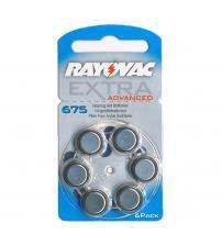 Rayovac RAY675EA-6 Extra Advanced 1.4V Zinc Air Hearing Aid Batteries Carded 6