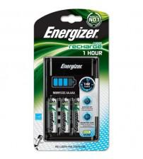 Energizer 638892 1 Hour Battery Charger Fast-Charging Accu with 4x AA/AAA 2300mAh Batteries