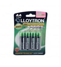 Lloytron B011 NIMH AccuPower AA Rechargeable Batteries 800mAh - Pack of 4