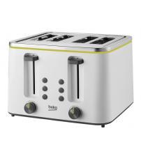 Beko TAM4341W New Line 4 Slice Toaster - White