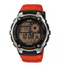 Casio AE-2100W-4AVEF World Time LCD Watch - Orange